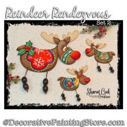Reindeer Rendezvous Set 2 Painting Pattern PDF DOWNLOAD - Sharon Cook