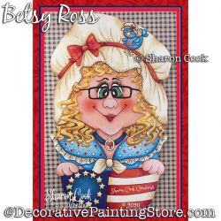 Betsey Ross Painting Pattern PDF DOWNLOAD - Sharon Cook