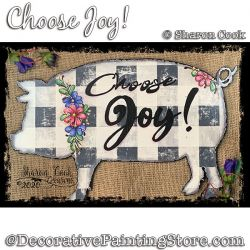 Choose Joy Painting Pattern PDF DOWNLOAD - Sharon Cook