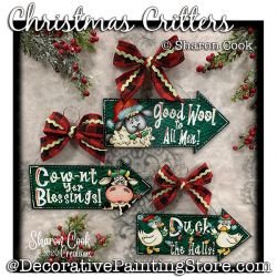 Christmas Critters Painting Pattern PDF DOWNLOAD - Sharon Cook