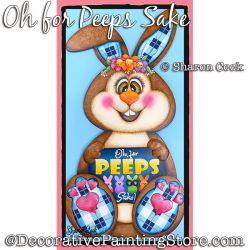 Oh For Peeps Sake (Bunny) Painting Pattern PDF DOWNLOAD - Sharon Cook
