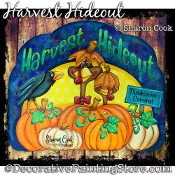 Harvest Hideout (Turkeys - Pumpkins) Painting Pattern PDF DOWNLOAD - Sharon Cook