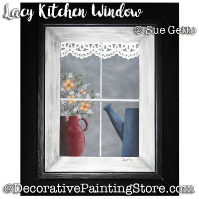 Lacy Kitchen Window ePattern - Sue Getto - PDF DOWNLOAD