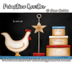 Primitive Rooster ePattern - Sue Getto - PDF DOWNLOAD