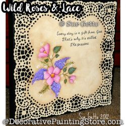 Wild Roses and Lace ePattern - Sue Getto - PDF DOWNLOAD