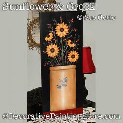 Sunflower and Crock DOWNLOAD Painting Pattern - Sue Getto