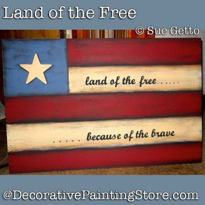 Land of the Free DOWNLOAD Painting Pattern - Sue Getto