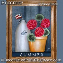 Summer Still Life DOWNLOAD Painting Pattern - Sue Getto