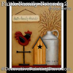 Faith-Family-Friends 2 DOWNLOAD Painting Pattern - Sue Getto