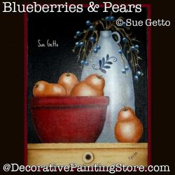 Blueberries and Pears DOWNLOAD Painting Pattern - Sue Getto