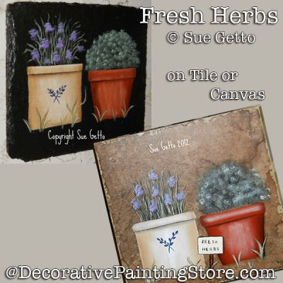 Fresh Herbs DOWNLOAD Painting Pattern - Sue Getto