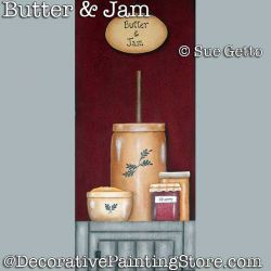 Butter and Jam DOWNLOAD Painting Pattern - Sue Getto