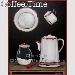 Coffee Time DOWNLOAD Painting Pattern - Sue Getto