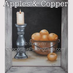 Apples and Copper DOWNLOAD Painting Pattern - Sue Getto