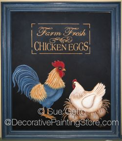 Farm Fresh (Rooster and Hen) DOWNLOAD Pattern - Sue Getto