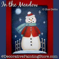 In the Meadow Snowman DOWNLOAD Pattern - Sue Getto