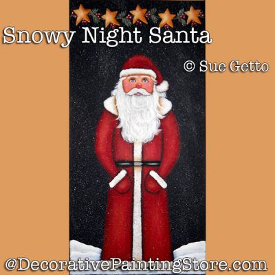 Snowy Night Santa DOWNLOAD Pattern - Sue Getto