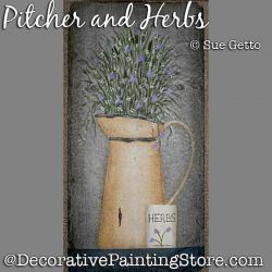 Pitcher and Herbs DOWNLOAD Pattern - Sue Getto