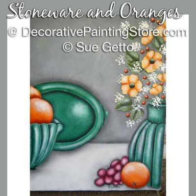 Stoneware and Oranges DOWNLOAD Pattern - Sue Getto