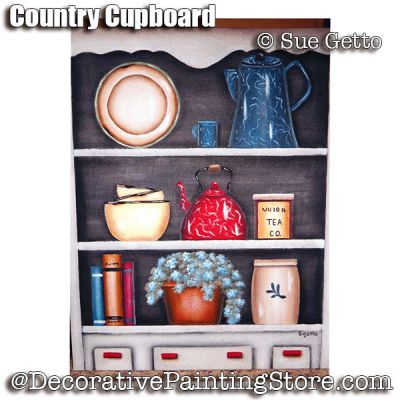 Country Cupboard ePattern - Sue Getto - PDF DOWNLOAD