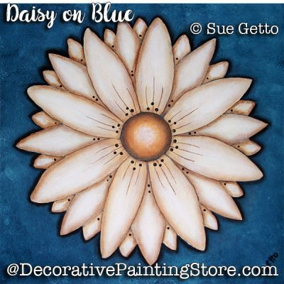 Daisy on Blue ePattern - Sue Getto - PDF DOWNLOAD