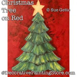 Christmas Tree on Red DOWNLOAD- Sue Getto