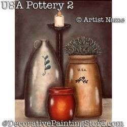 USA Pottery 2 DOWNLOAD Painting Pattern - Sue Getto