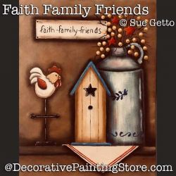 Faith Family Friends DOWNLOAD Painting Pattern - Sue Getto
