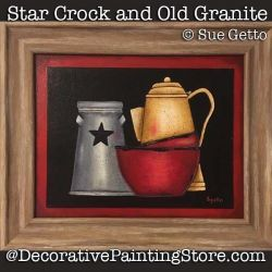 Star Crock and Old Granite DOWNLOAD Painting Pattern - Sue Getto
