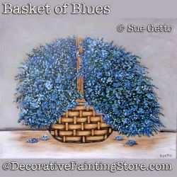 Basket of Blues DOWNLOAD Painting Pattern - Sue Getto