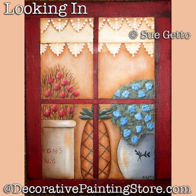 Looking In DOWNLOAD Painting Pattern - Sue Getto