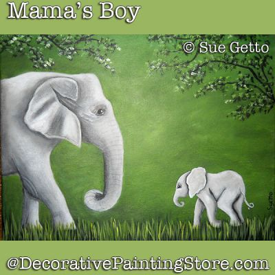 Mamas Boy DOWNLOAD Painting Pattern - Sue Getto