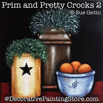 Prim and Pretty Crocks 2 DOWNLOAD Painting Pattern - Sue Getto