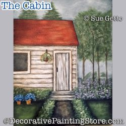 The Cabin DOWNLOAD Painting Pattern - Sue Getto