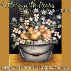 Pottery with Pears DOWNLOAD Painting Pattern - Sue Getto