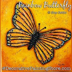 Rainbow Butterfly DOWNLOAD Painting Pattern - Sue Getto