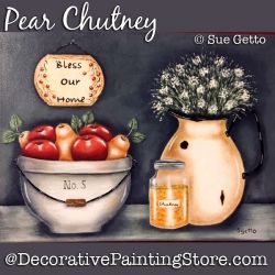 Pear Chutney DOWNLOAD Painting Pattern - Sue Getto