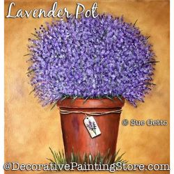 Lavender Pot Still Life DOWNLOAD Painting Pattern - Sue Getto