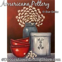 Americana Pottery DOWNLOAD Painting Pattern - Sue Getto