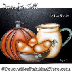 Pears for Fall DOWNLOAD Painting Pattern - Sue Getto
