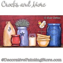 Crocks and More Still Life DOWNLOAD Painting Pattern - Sue Getto