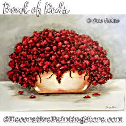 Bowl of Reds Still Life DOWNLOAD Painting Pattern - Sue Getto