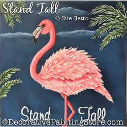 Stand Tall (Flamingo) DOWNLOAD Painting Pattern - Sue Getto
