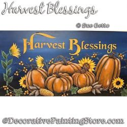 Harvest Blessings DOWNLOAD Painting Pattern - Sue Getto