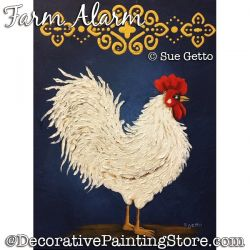 Farm Alarm (Rooster) DOWNLOAD Painting Pattern - Sue Getto