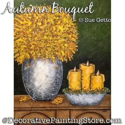 Autumn Bouquet DOWNLOAD Painting Pattern - Sue Getto
