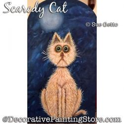 Scaredy Cat DOWNLOAD Painting Pattern - Sue Getto