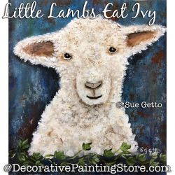 Little Lambs Eat Ivy DOWNLOAD Painting Pattern - Sue Getto