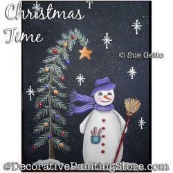 Christmas Time (Snowman) PDF DOWNLOAD Painting Pattern - Sue Getto