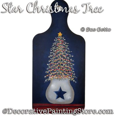 Star Christmas Tree PDF DOWNLOAD Painting Pattern - Sue Getto